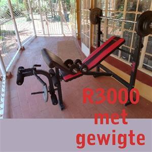Maxed Huis gym met gewigte te koop