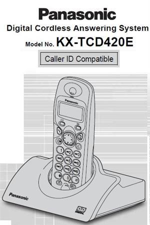 Panasonic Cordless phone with a digital answering machine - Model KX-TCD420E