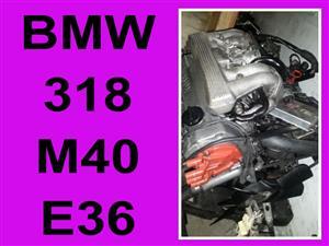BMW 318 M40 E36 engine for sale.
