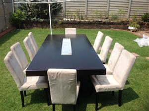 Dinning table plus 10 chairs