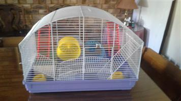 REDUCED FROM R 600 - ALMOST BRAND NEW HAMSTER CAGE FOR SALE
