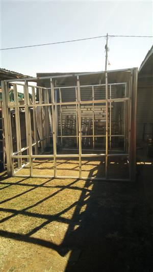 Lightweight steel structure 3x3 for clading or wood