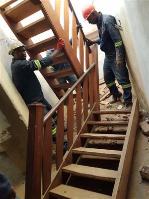 Teak staircase