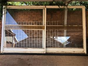Steel sliding door frame