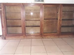 Bookcase/Display Cabinet Mahogany Veneer