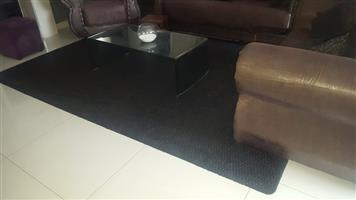 Big Black Carpet with a spec of grey detail