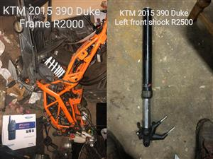 2015 KTM DUKE 390 BIKE PARTS AVAILABLE