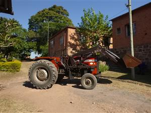 Massey Ferguson 265 tractor with front end loader