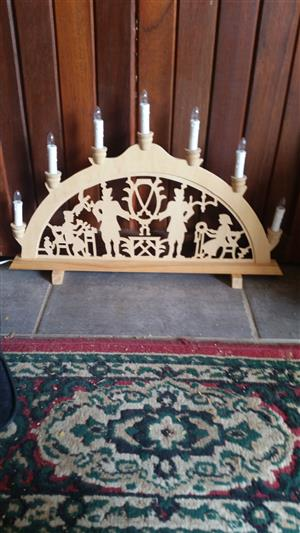 Ornate German Christmas Candle Arch