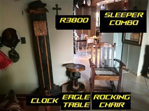 Hand crafted Sleeper wood combo.