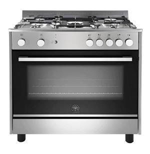 LA Germania Parma 90cm 5 burner gas stove Electric oven - S/Steel