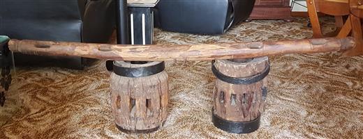 Ox wagon rims and yellow wood ox wagon tow bar