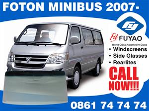 brand new windscreen for sale for Foton Minibus 2007- models #5477