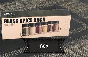 Glass spice rack for sale