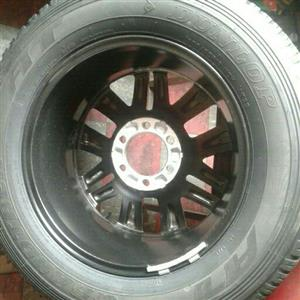Toyota rim and tyre