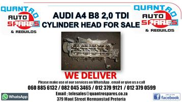Audi A4 B8 2.0 tdi Cylinder head for sale