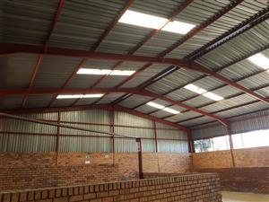 55mx20m (1100sqm) Steel structure with sheeting and extras