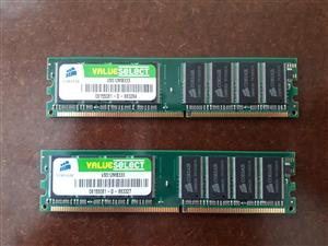 Corsair Desktop Memory New 2x 512MB RAM DDR 333MHz