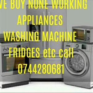 WE BUY NONE WORKING APPLIANCES