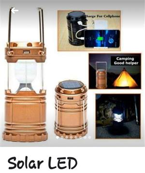 LED SOLAR MINI LAMP WITH USB PORT AND CAN BE CHARGED WITH ELECTRICITY OR SUNLIGHT AND USES BATTERIES IF NOT CHARGED (3 IN 1)