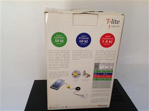 Solar panel cellphone charger and T-lite and Waco LED with charger