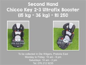 Second Hand Chicco Key 2-3 Ultrafix Booster (15 kg - 36 kg)