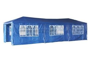 3 x 9m Gazebo Folding Tent Marquee w/ Side Walls for Functions, Weddings, Events, Picnics - Blue