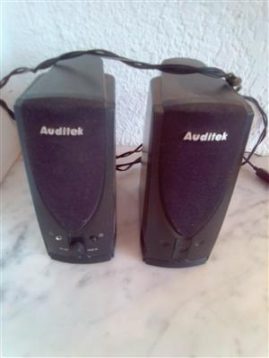 Auditek Speakers. USB- power cable, slot for external charger. I am in Orange Grove.