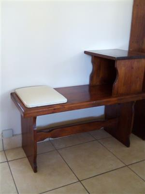 Wooden Telephone Table Scottburgh
