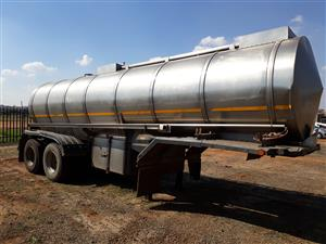 16000L stainless steel Milk tanker D/D