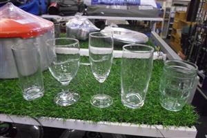 8 Crates Variety of Glasses