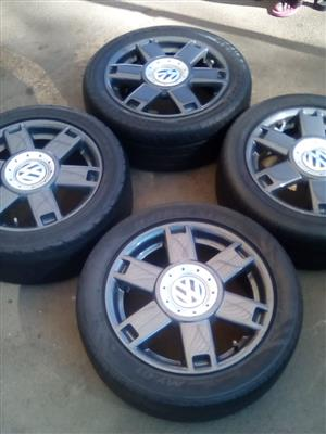 15 Inch VW OEM Velociti Mag Rims with tyres