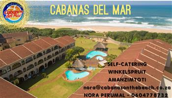 DECEMBER 1 TO 15 ,2 BED, SELF-CATERING WINKELSPRUIT AMANZIMTOTI, 24 HR SEC, GROUND FLOOR, RIGHT ON THE BEACH, MAX6