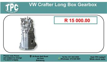 Vw Crafter Long Box Gearbox For Sale.