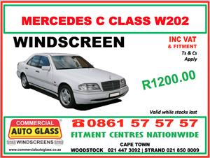 Mercedes C-Class W202 - Commercial Auto Glass Windscreen Special