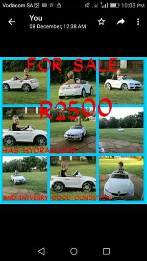 White kiddies BMW for sale