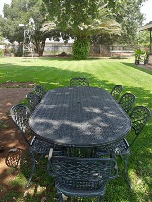 Cast aluminium eight piece garden set - reduced price!!
