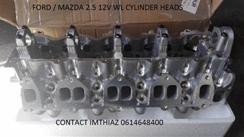 FORD / MAZDA 2.5 12V WL CYLINDER HEADS BARE AND ASSEMBLED  (BRAND NEW)