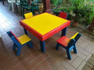 Toddler Table with 4 Chairs