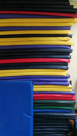 Various colored yoga mats