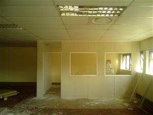 we specialized in ceilings, drywalling patition, door fittings, painting, roofing, skirting, plumbing and shower fitting