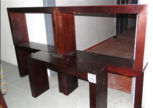 Beautiful Dark-wood Side/Server Tables - R 950