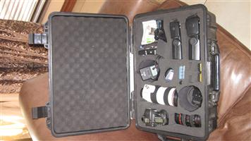 CANON 7D camera with lenses and accessories