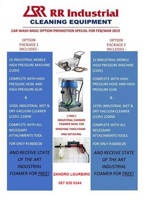 HIGH PRESSURE CLEANERS| PRESSURE WASHER | INDUSTRIAL VACUUM CLEANER | CAR WASH