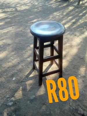 Round wooden bar stool for sale