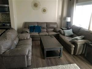 Palliser couch set and wall unit for sale