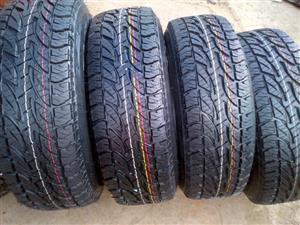 Brigestone dueller all terrain 265/65/17 694  4x new tyres r6499, ,