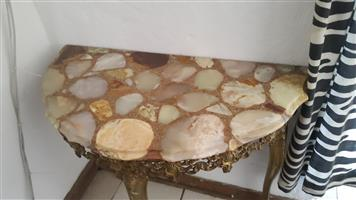 Solid Brass and marble table