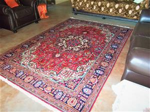 Persian carpet in pristine condition , for sale