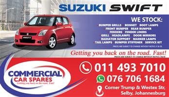 New Suzuki Swift Body Parts And Spares For Sale At Car Spares